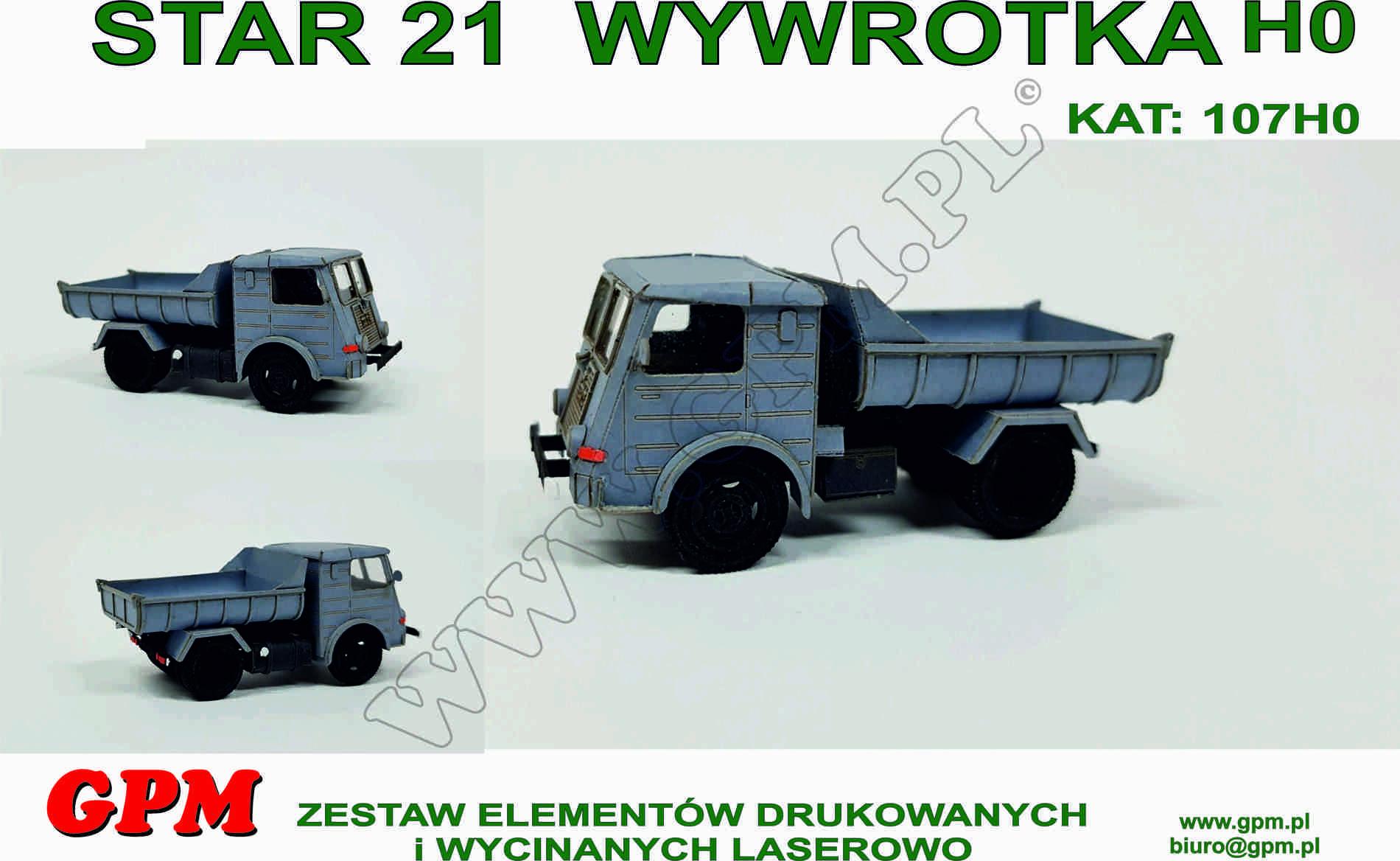 Zupełnie nowe STAR 21 WYWROTKA (HO) - model wycięty laserowo • WF51