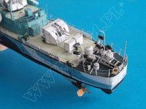 Kartonmodell Kanadischer Zerstörer HMCS Haida 1:200 Card Fleet